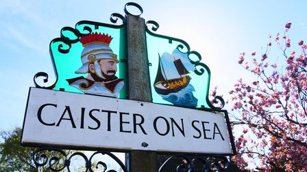 Caister on Sea village sign. Picture: DENISE BRADLEY