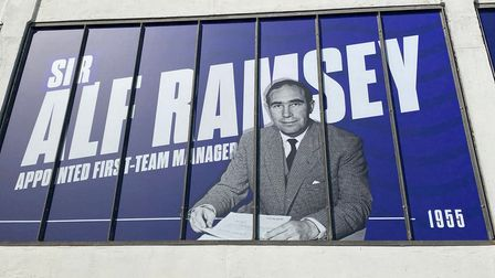 A first look at the iconic Ipswich images on the Cobbold Stand at Portman Road