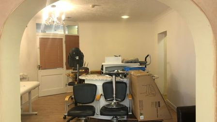 The beauty salon before its transformation