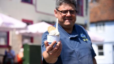 Ugur Vata owner of the Galley in Woodbridge has just opened a new ice cream parlour on Market Hill