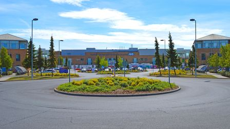 The Norfolk and Norwich University Hospital.