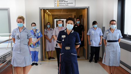 Hospitals in the county have continued the mandatory rule that face coverings must be worn.