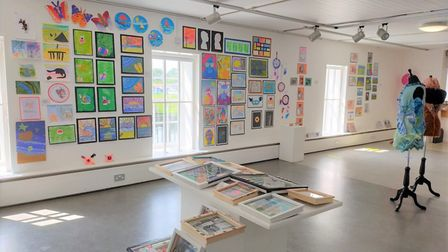 Artwork exhibited at Babylon Gallery included drawings, paintings, textiles and more.