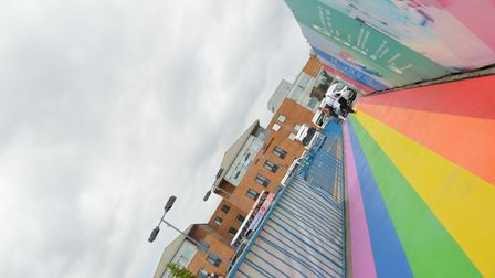 The Norfolk and Norwich University has created a rainbow walkway in honour of Pride.