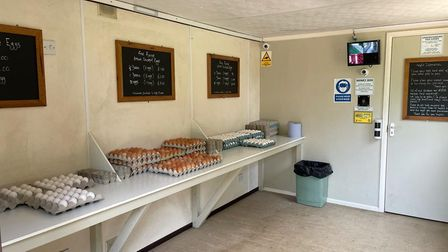The interior of the Little Green Egg Shop at Billingford