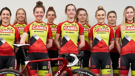 A group picture of the CAMS-BassoBikes team