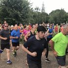 Runners take part in the Eaton Park Parkrun.