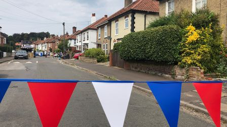 The Portersfield Road street party took place on Saturday ahead of Norfolk Day.