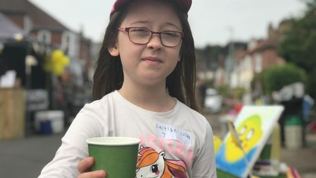 Caitlyn Colley, 7 at the Norfolk Day Street Party