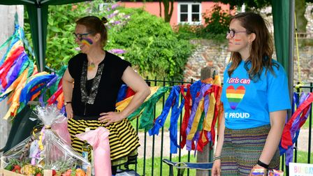 People enjoy the first ever Bungay Pride event on Saturday, July 24.