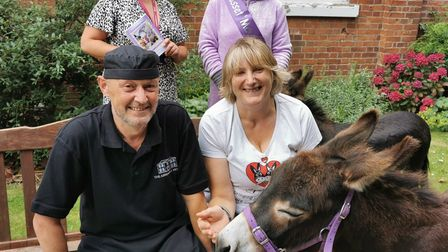 TheMinature Donkeys for Wellbeing at the launch of the new cookbook.