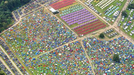 Aerial photos show the extent of this year's Latitude Festival in Suffolk.