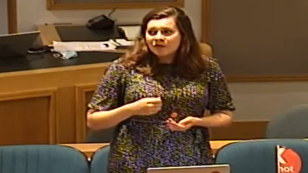 """Cllr Eve McQuillan... home dwellers she met""""sufferstress and anxiety in unsafe buildings""""."""