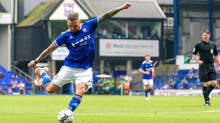 James Norwood about to pull the trigger on a shot that ender up wide of the target.