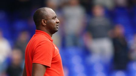 Crystal Palace team manager Patrick Vieira looks on.