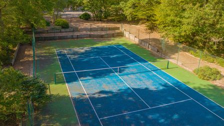 Included in the sale is a tennis court