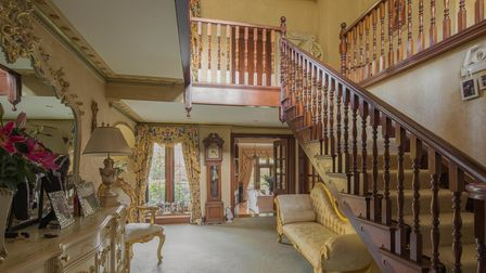 The interior of the luxury home