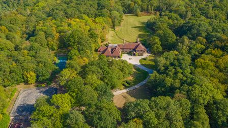 An aerial picture shows the scale of the 17-acre estate
