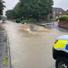 Roads in Haverhill have flooded due to heavy rain