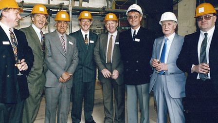 Jack Bowhill (third from left) with Sir Ian McKellen (second from left) and other dignitaries at ope