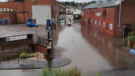 Flooding in Haverhill over the weekend