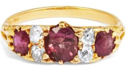 A ruby and diamond ring stolen from a patient's hand in Broomfield Hospital, Essex