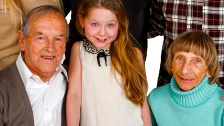 Isabella with her Nanny Jean and grandad Fred, who sadly passed away shortly after Jean in 2018