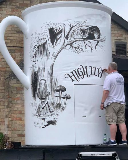 The Alice in Wonderland theme tea cup looks to become a permanent feature of the Newnham Street pub