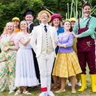 KD Theatre's performanceof 'Honk the musical' in the open-air setting of the Dean's Garden ofEly Cathedral.