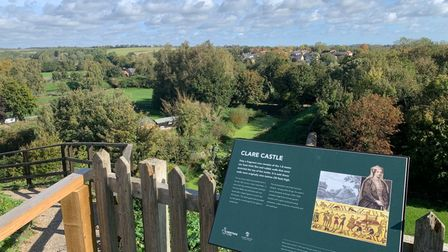 View from Clare castle in Suffolk