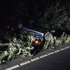 Suspected drink driver gets out ok but he arrested at St Neots