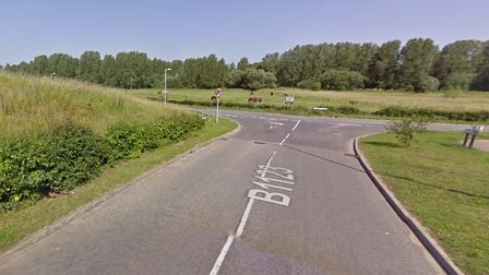 A lorry was in collision with a tree on the B1123 at Halesworth