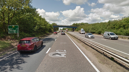 There has been a collision on the A12 London bound at Colchester
