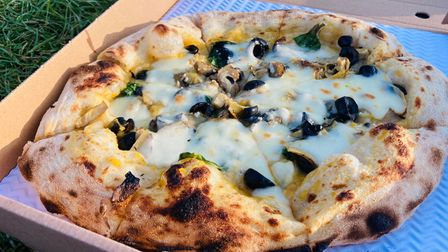 The seasonal special pizza from Reggia, based in Stowmarket