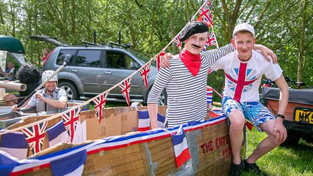 A scene from theThe Fakenham Cardboard Raft races, one of the many event