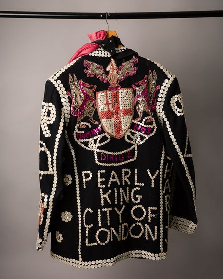 One of the photos of the Pearly King suit that Helen submitted in the competition.