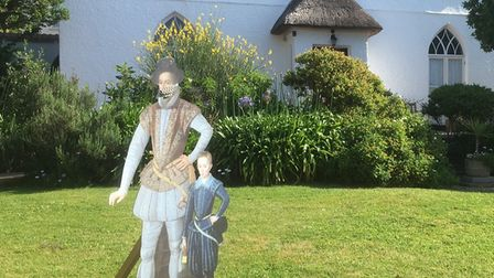 Look out for the masked Sir Walter Raleigh and son when you visit!
