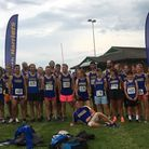 Harriers relaxing before the start of the relay at Ivybridge