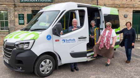 The new Katch bus between Framlingham and Campsea Ashe has been unveiled