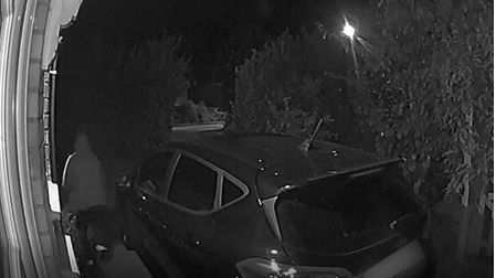 Milk thieves have been caught on camera in the south of Ely, stealing milk from resident's driveways.