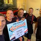 The team at Sutton fire stationraised £925 for The Fire Fighters Charity by holding a car wash on July 18.