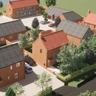 A computer-generated image of how the proposed development in Hindringham could look.