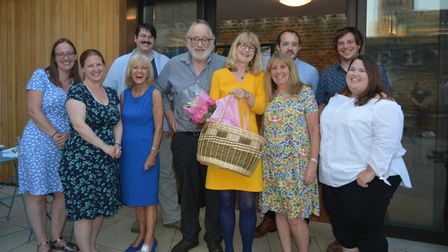 Ely Museum friends and staff wish Sally Austin a happy retirement