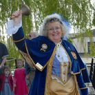 Hear ye -Ely's beloved town crier Avril Hayter-Smith. EastCambsDistrict Council believes they have much to cheer about.
