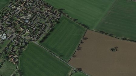 The site of the 47 planned homes in Hopton, near Diss