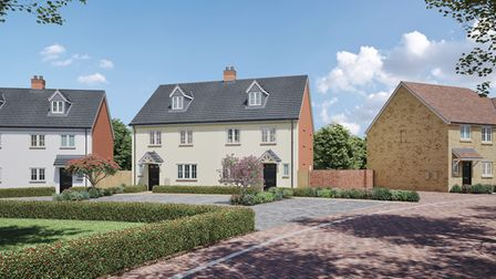 A proposed street scene at Cavendish View in Thurston