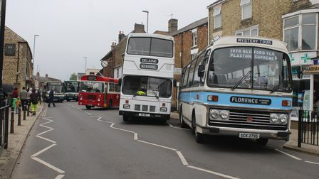 Buses took over Market Street in Whittlesey for the event.