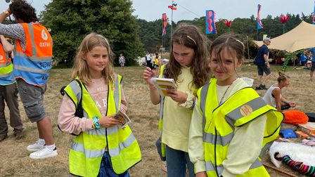 A team of young reporters at Latitude festival
