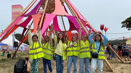 The team of young reporters at Latitude festival