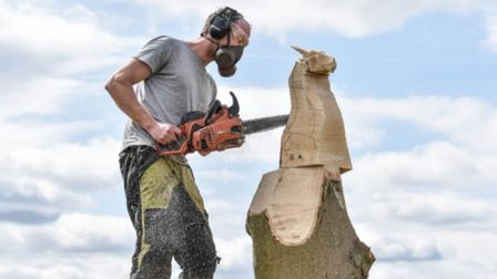 The Sandringham cup chainsaw competition is back, with some of the UKs top carvers competing.